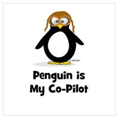 Penguin is My Co-Pilot Poster