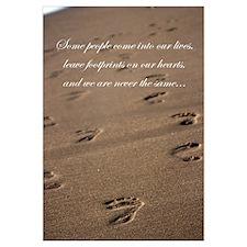Funny Footprints sand Wall Art