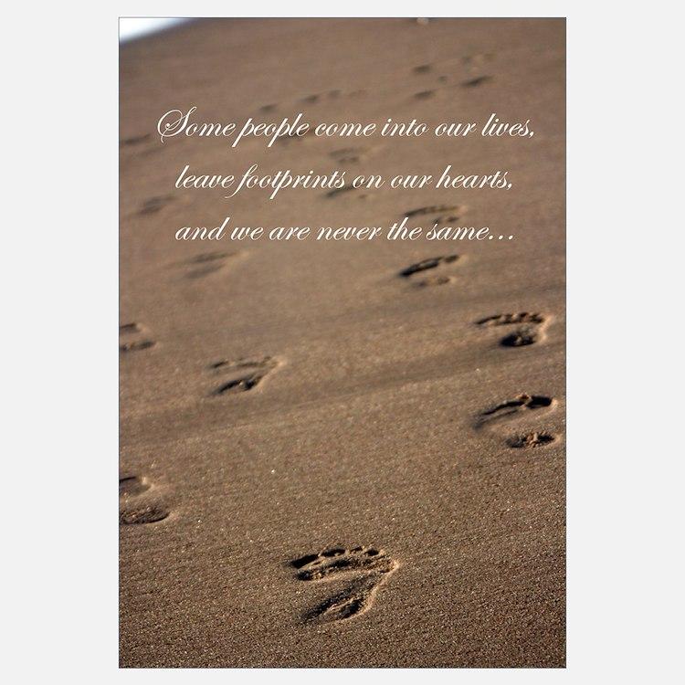 Footprints Wall Decor : Footprints in the sand wall art