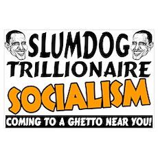 """""""Obama: Slumdog Trillionaire"""" Poster"""