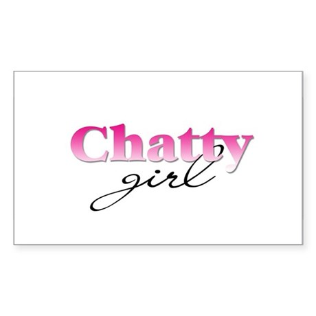 Chatty girl Rectangle Sticker