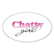 Chatty girl Oval Decal