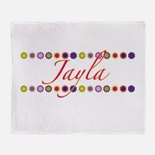 Jayla with Flowers Throw Blanket