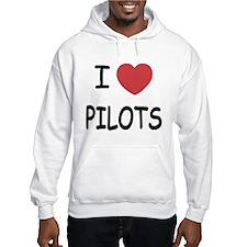 I heart pilots Hoodie