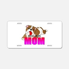 Bulldog Mom Aluminum License Plate