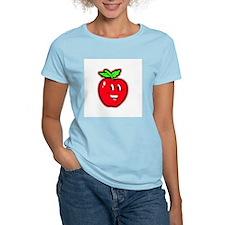 Happy Apple Women's Pink T-Shirt