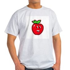 Happy Apple Ash Grey T-Shirt