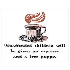 Free Espresso for Children Poster