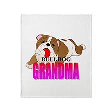 Bulldog Grandma Throw Blanket
