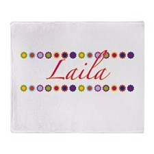 Laila with Flowers Throw Blanket