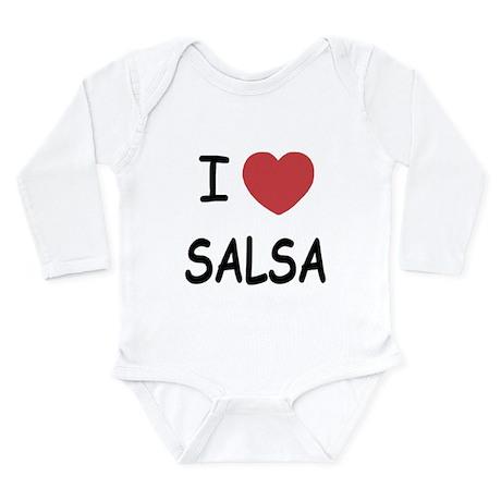 I heart salsa Long Sleeve Infant Bodysuit