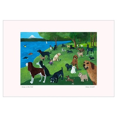 SUNDAY AFTERNOON IN THE PARK Framed Print