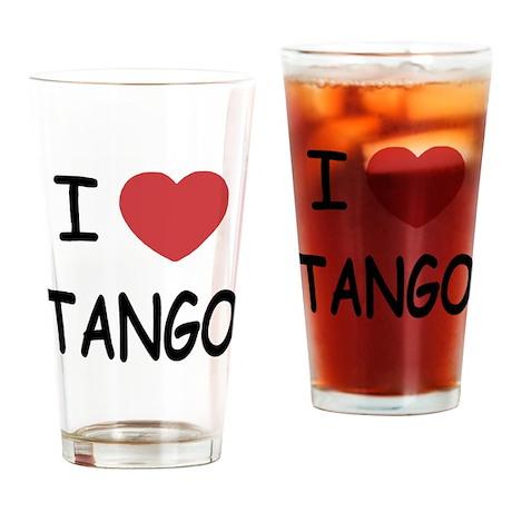 I heart tango Drinking Glass