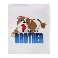 Bulldog Brother Throw Blanket