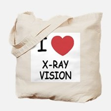 I heart x-ray vision Tote Bag