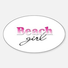 Beach girl Oval Stickers