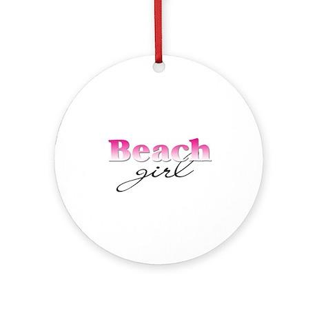 Beach girl Ornament (Round)