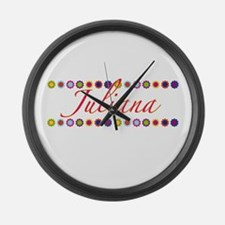 Juliana with Flowers Large Wall Clock