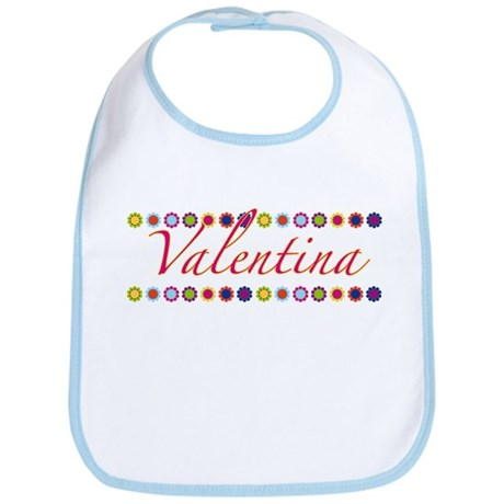 Valentina with Flowers Bib