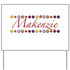 Makenzie with Flowers Yard Sign