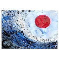 Blue Ocean Red Sun