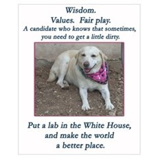 Lab For President Framed Print