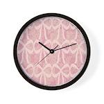 Go Pink Ribbon Wall Clock