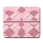 Go Pink Ribbon Argyle Mousepad