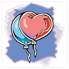 Heart Balloon Poster