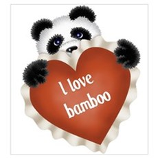 Funny - I love bamboo Poster