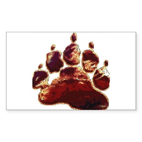 BEAR PAW_shades of brown_mosaic Sticker (Rectangul