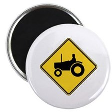 """Warning : Tractor 2.25"""" Magnet (10 pack)"""