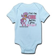 Before I Grow Boobs Breast Cancer Infant Bodysuit
