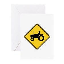 Warning : Tractor Greeting Cards (Pk of 20)
