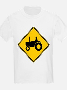 Warning : Tractor T-Shirt