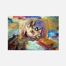 Wildlife, rhino, art, Rectangle Magnet (100 pack)