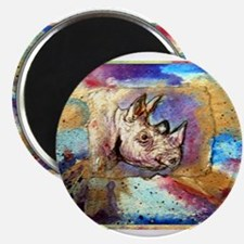 "Wildlife, rhino, art, 2.25"" Magnet (10 pack)"