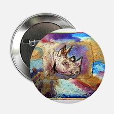 "Wildlife, rhino, art, 2.25"" Button"