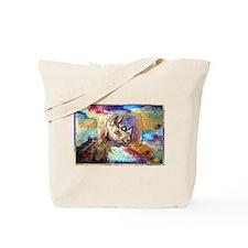 Wildlife, rhino, art, Tote Bag