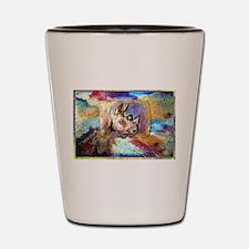 Wildlife, rhino, art, Shot Glass