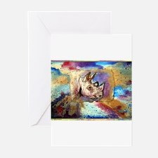 Wildlife, rhino, art, Greeting Cards (Pk of 10)