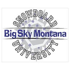 Snowboard Big Sky MT Poster