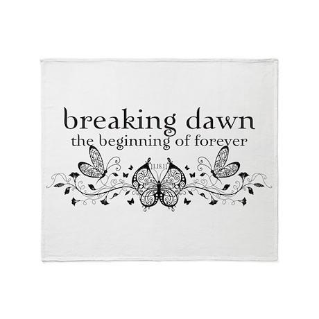 Breaking Dawn Beginning Throw Blanket