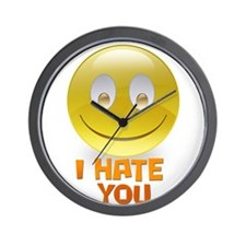 Funny I hate you Wall Clock