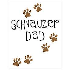 Paw Prints Schnauzer Dad Poster