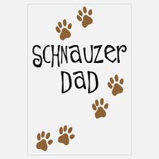 Paw Prints Schnauzer Dad