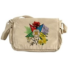 Eastern Star Floral Messenger Bag