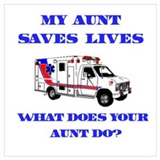 Ambulance Saves Lives-Aunt Framed Print