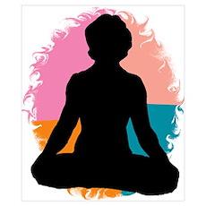 Lotus Pose Yoga Poster