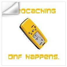 Geocaching DNF Happens! Wall Decal